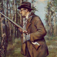 Portret męski - na polowaniu