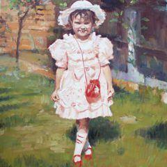 Portret małej Kasi