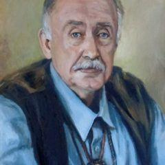 Portret olejny - Myśliwy