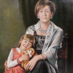 Portret z jabłkiem