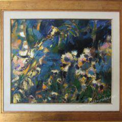 Impresja jesienna - łąka, obraz olejny