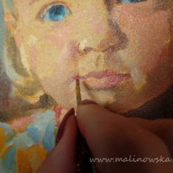 Child portrait-oil on canvas, process of painting
