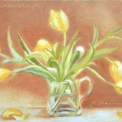 Obraz olejny Żółte Tulipany