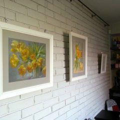 Wiosenna galeria, obrazy,malarstwo,kwiaty