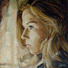 Portret olejny napłótnie